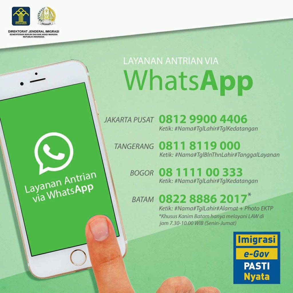 Cara buat paspor & ambil antrean online lewat WhatsApp