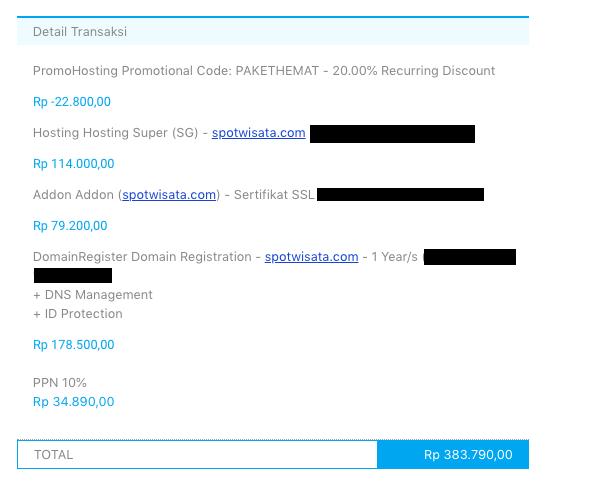 Layanan domain dan web hosting DomaiNesia.
