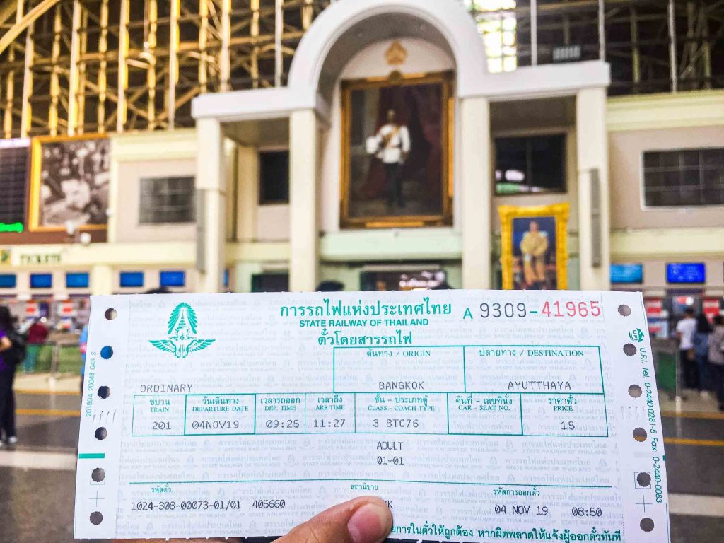 Train Ticket to Ayutthaya
