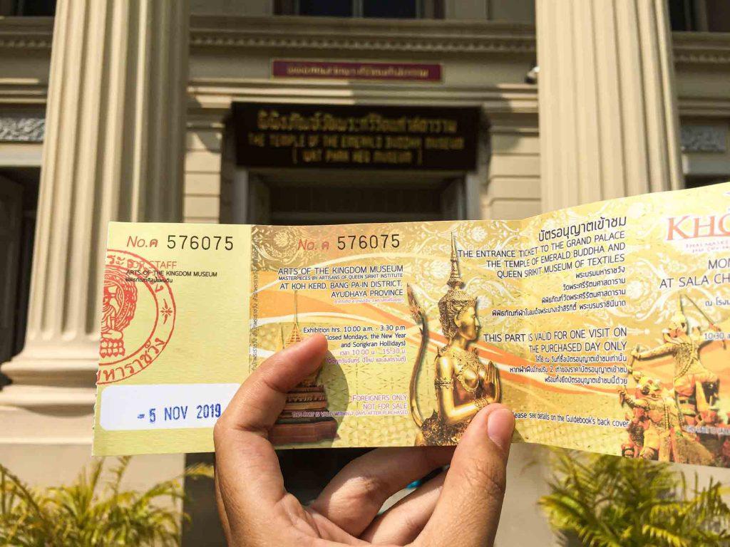 Tiket masuk ke Grand Palace