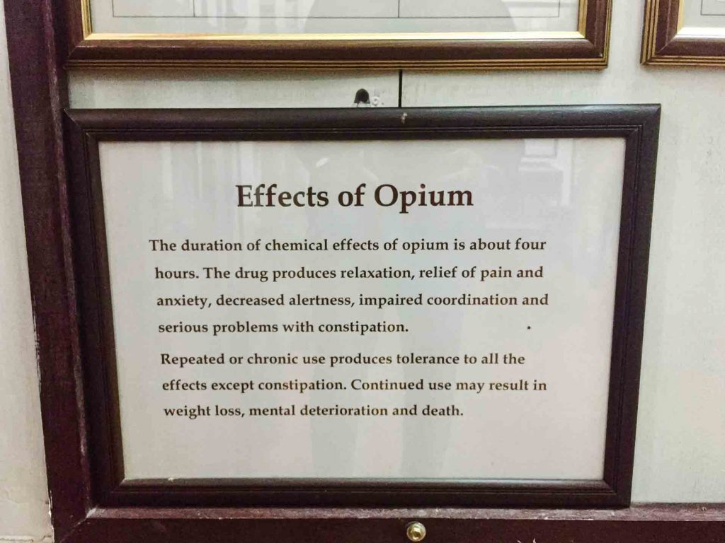 Effects of opoium