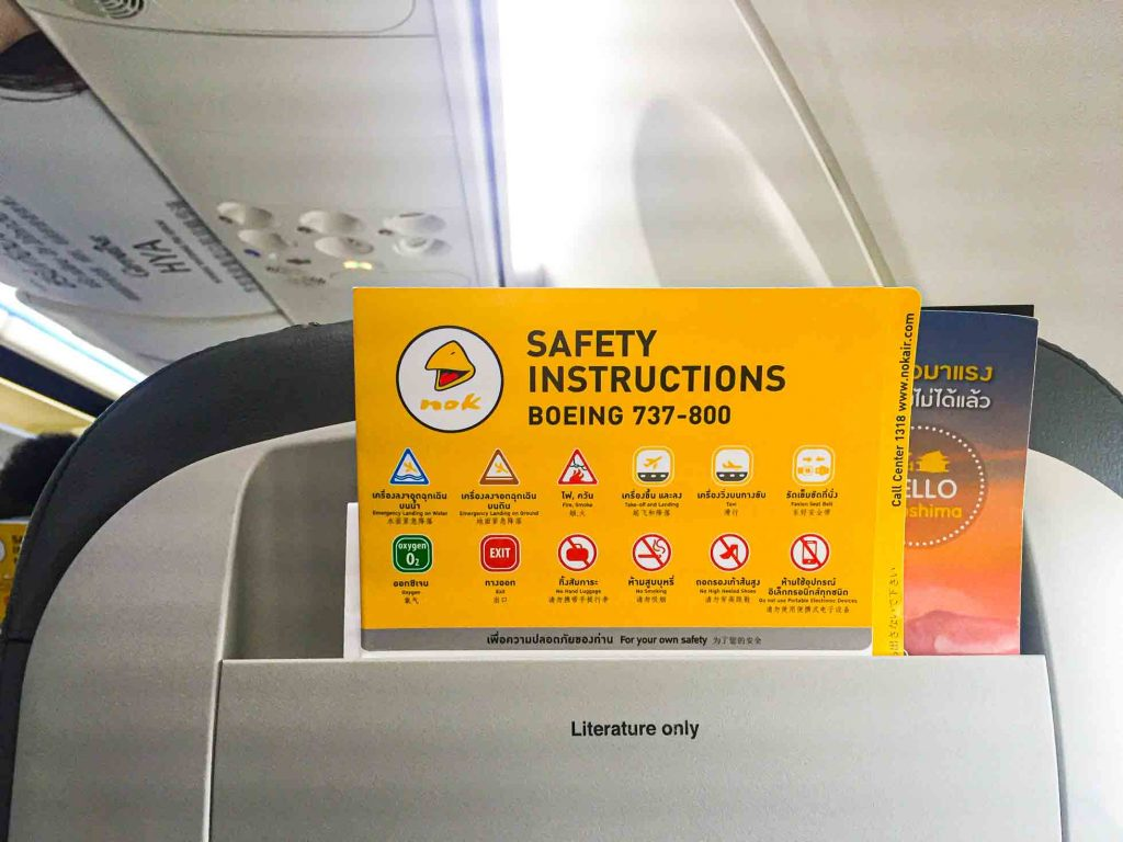 Safety instruction card Nok Air