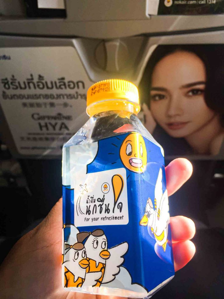 Mineral water refreshment Nok Air