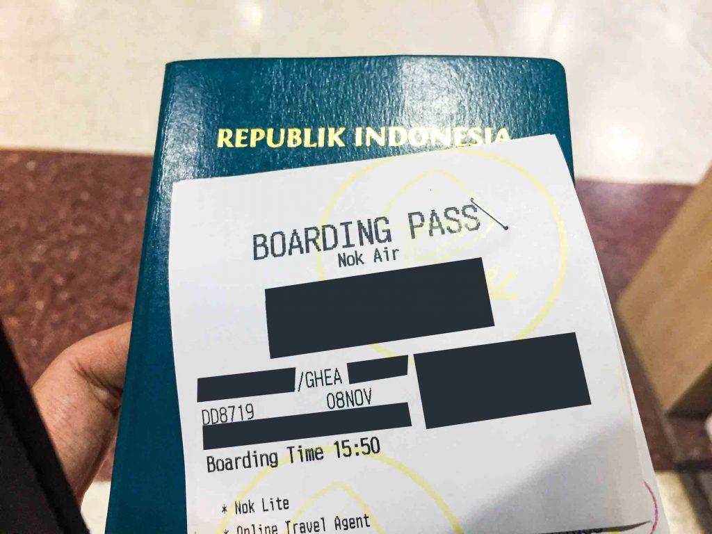 Boarding Pass Nok Air