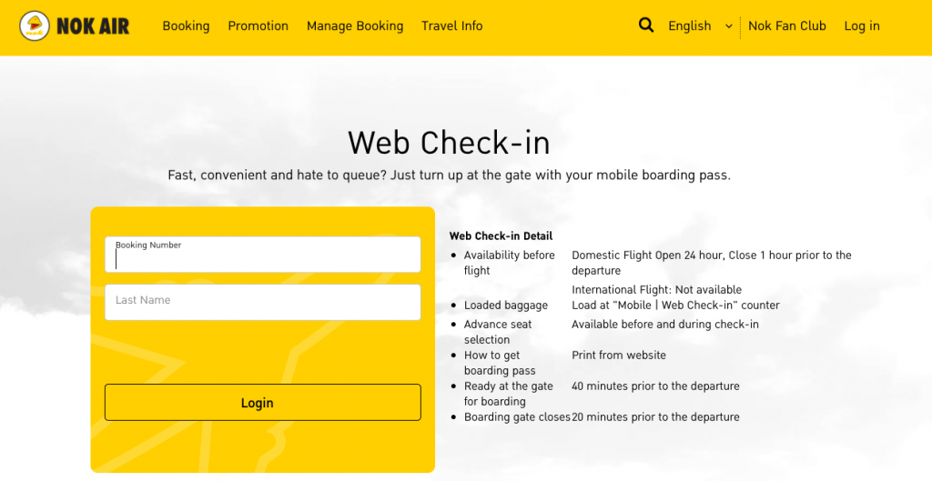 Web Check In Nok Air